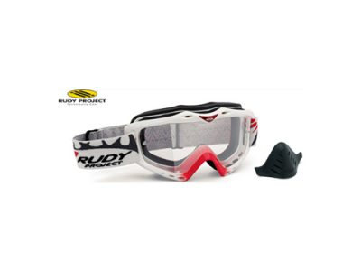 Máscara motocross Rudy Project Klonyx MX White Red / Transparent