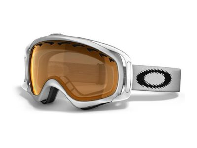 Máscara Oakley Crowbar Snow color blanco con lente naranja