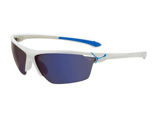 Gafas deportivas Cébé Cinetik 6 Shiny White Blue/1500 Grey Flash Blue + Yellow + Clear