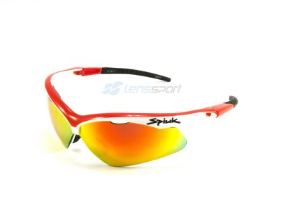 Gafas deportivas Spiuk Ventix GVENBR02 (White-Red) / Mirror Red + Orange + Clear