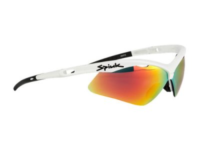 Gafas deportivas Spiuk Ventix GVENBL02 (White) / Mirror Red + Orange + Clear