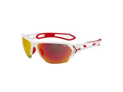 Gafas deportivas Cébé S'TRACK CBSTL4 Matt White Red / 1500 Grey Polarized Orange FM + Clear