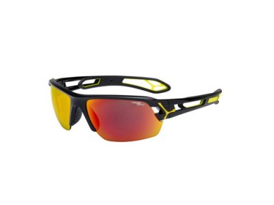 Gafas deportivas Cébé S'TRACK CBSTM4 Shiny Black / 1500 Grey Polarized Orange FM + Clear