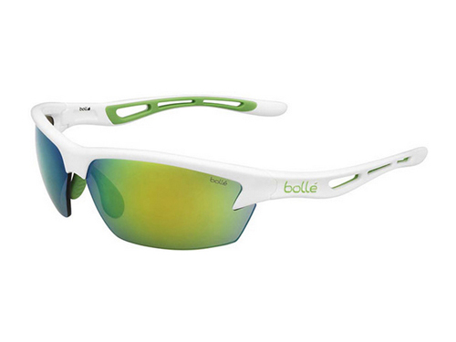 Gafas de deporte Bollé BOLT Shiny White GreenEdge / Modulator Green Emerald oleo AF