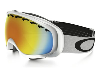 Máscara de nieve Oakley Crowbar Snow OO7005 Matte White / Fire Iridium
