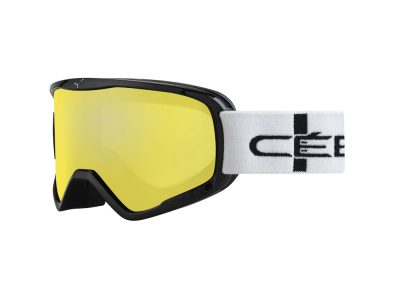Máscara de nieve Cébé Striker L CBG50 BLACK STRIPES / YELLOW