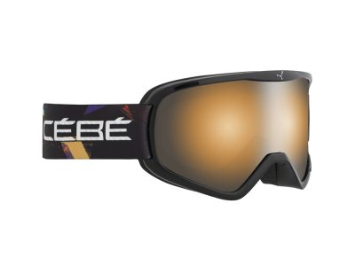 Máscara de nieve Cébé Striker L CBG53 Black street / orange flash mirror