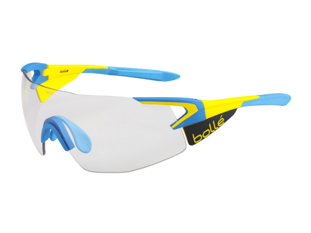 Gafas fotocromáticas ciclismo Bollé 5th Element Pro Matte Yellow Blue Modulator clear grey