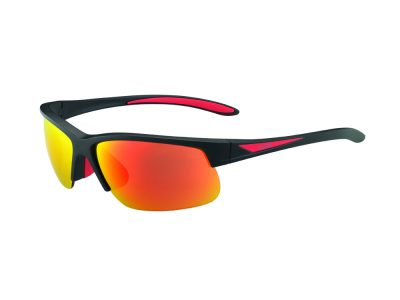 Gafas de sol ciclismo polarizadas Bollé BREAKER 12108 Matte Black Red - Polarized Fire